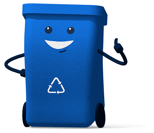 Recycle Bin Giving Thumbs Up