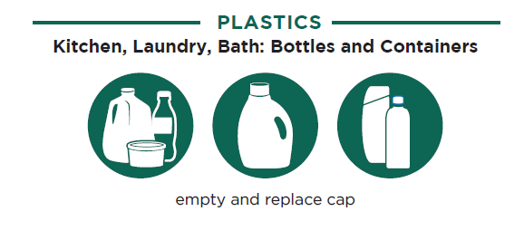 Recycle your plastic and glass bottles